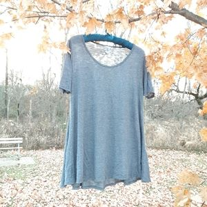 LuLaRoe basic grey tshirt with slight texture